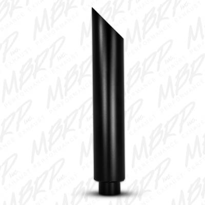 MBRP Exhaust - MBRP Exhaust 1 pc Stack 6 Angle Cut 36 Black Coated B1610BLK