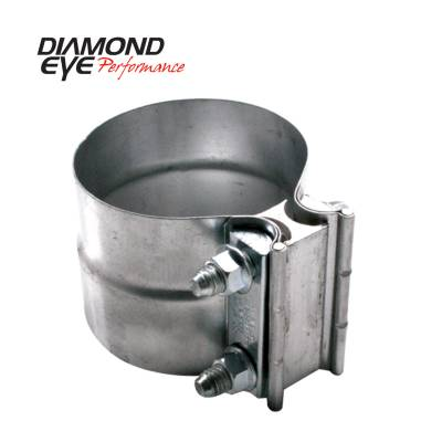 EXHAUST - EXHAUST CLAMPS - Diamond Eye Performance - Diamond Eye Performance PERFORMANCE DIESEL EXHAUST PART-4in. 409 STAINLESS STEEL TORCA LAP-JOINT CLAMP L40SA