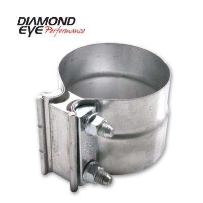 EXHAUST - EXHAUST CLAMPS - Diamond Eye Performance - Diamond Eye Performance PERFORMANCE DIESEL EXHAUST PART-2.5in. ALUMINIZED TORCA LAP-JOINT CLAMP L25AA