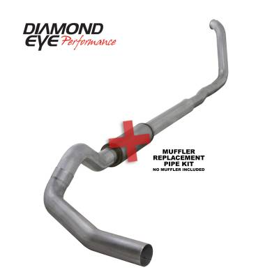 EXHAUST - EXHAUST KITS - Diamond Eye Performance - Diamond Eye Performance 1999-2003.5 FORD 7.3L POWERSTROKE F250/F350 (ALL CAB AND BED LENGTHS) 5in. ALUMI K5322A-RP