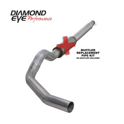 EXHAUST - EXHAUST KITS - Diamond Eye Performance - Diamond Eye Performance 1994-1997.5 FORD 7.3L POWERSTROKE F250/F350 (ALL CAB AND BED LENGTHS) 5in. ALUMI K5316A-RP