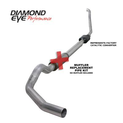 PERFORMANCE - EXHAUST - Diamond Eye Performance - Diamond Eye Performance 1994-1997.5 FORD 7.3L POWERSTROKE F250/F350 (ALL CAB AND BED LENGTHS) 5in. ALUMI K5314A-RP