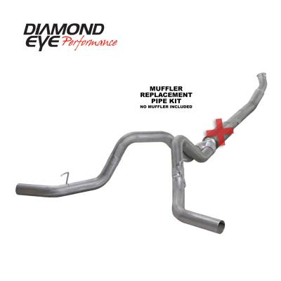EXHAUST - EXHAUST KITS - Diamond Eye Performance - Diamond Eye Performance 2004.5-2007.5 DODGE 5.9L CUMMINS 2500/3500 (ALL CAB AND BED LENGTHS)-5in. ALUMIN K5246A-RP