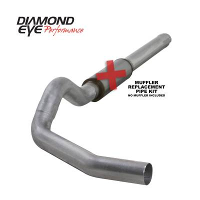 EXHAUST - EXHAUST KITS - Diamond Eye Performance - Diamond Eye Performance 2004.5-2007.5 DODGE 5.9L CUMMINS 2500/3500 (ALL CAB AND BED LENGTHS)-5in. ALUMIN K5244A-RP