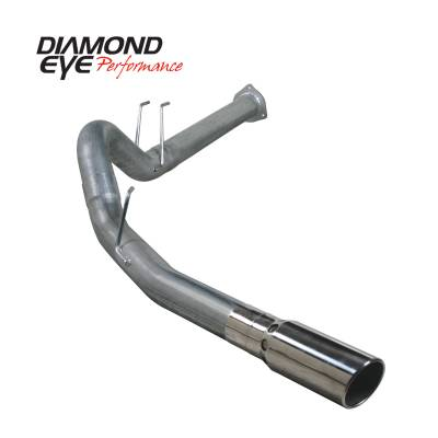 EXHAUST - EXHAUST KITS - Diamond Eye Performance - Diamond Eye Performance 2011-2014 FORD 6.7L POWERSTROKE F250/F350 4 DPF BACK SINGLE 409 STAINLESS STEEL K4376S