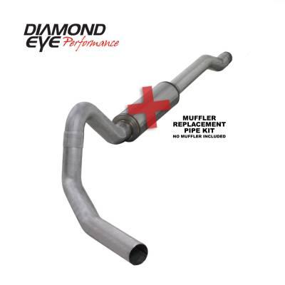 EXHAUST - EXHAUST KITS - Diamond Eye Performance - Diamond Eye Performance 2003-2006 FORD 6.0L POWERSTROKE EXCURSION-4in. ALUMINIZED-PERFORMANCE DIESEL EXH K4354A-RP