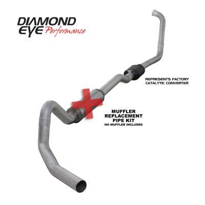 EXHAUST - EXHAUST KITS - Diamond Eye Performance - Diamond Eye Performance 2003-2006 FORD 6.0L POWERSTROKE EXCURSION-4in. ALUMINIZED-PERFORMANCE DIESEL EXH K4352A-RP