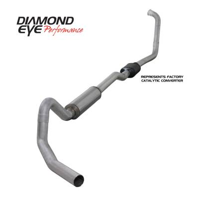 EXHAUST - EXHAUST KITS - Diamond Eye Performance - Diamond Eye Performance 2003-2006 FORD 6.0L POWERSTROKE EXCURSION-4in. ALUMINIZED-PERFORMANCE DIESEL EXH K4352A