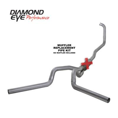 EXHAUST - EXHAUST KITS - Diamond Eye Performance - Diamond Eye Performance 2003-2007 FORD 6.0L POWERSTROKE F250/F350 (ALL CAB AND BED LENGTHS) 4in. ALUMINI K4348A-RP