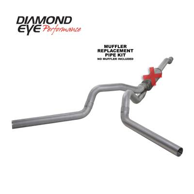 EXHAUST - EXHAUST KITS - Diamond Eye Performance - Diamond Eye Performance 2003-2007 FORD 6.0L POWERSTROKE F250/F350 (ALL CAB AND BED LENGTHS) 4in. ALUMINI K4340A-RP