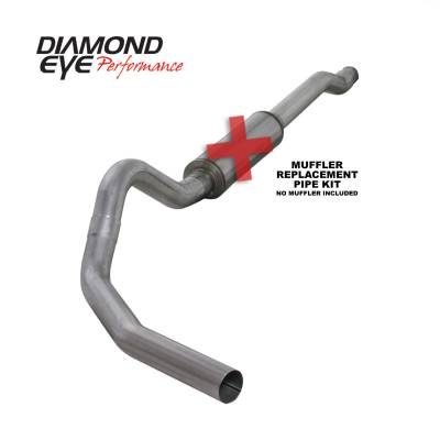 EXHAUST - EXHAUST KITS - Diamond Eye Performance - Diamond Eye Performance 2003-2007 FORD 6.0L POWERSTROKE F250/F350 (ALL CAB AND BED LENGTHS) 4in. ALUMINI K4338A-RP