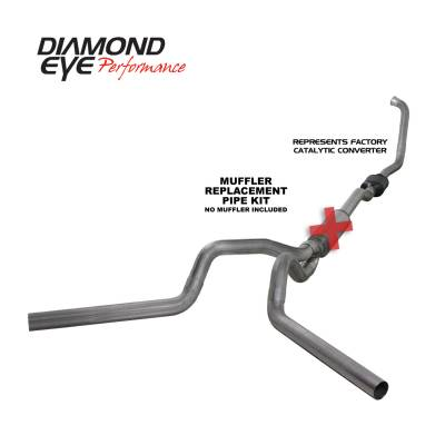 EXHAUST - EXHAUST KITS - Diamond Eye Performance - Diamond Eye Performance 2003-2007 FORD 6.0L POWERSTROKE F250/F350 (ALL CAB AND BED LENGTHS) 4in. 409 STA K4336S-RP