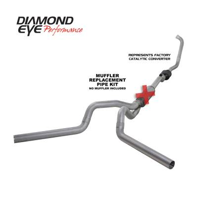 EXHAUST - EXHAUST KITS - Diamond Eye Performance - Diamond Eye Performance 2003-2007 FORD 6.0L POWERSTROKE F250/F350 (ALL CAB AND BED LENGTHS) 4in. ALUMINI K4336A-RP