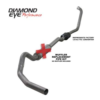 EXHAUST - EXHAUST KITS - Diamond Eye Performance - Diamond Eye Performance 2003-2007 FORD 6.0L POWERSTROKE F250/F350 (ALL CAB AND BED LENGTHS) 4in. 409 STA K4334S-RP