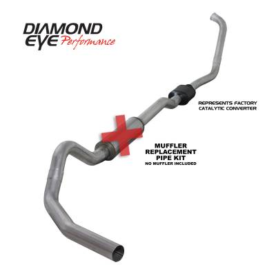 EXHAUST - EXHAUST KITS - Diamond Eye Performance - Diamond Eye Performance 2003-2007 FORD 6.0L POWERSTROKE F250/F350 (ALL CAB AND BED LENGTHS) 4in. ALUMINI K4334A-RP