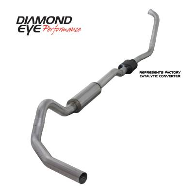 EXHAUST - EXHAUST KITS - Diamond Eye Performance - Diamond Eye Performance 2003-2007 FORD 6.0L POWERSTROKE F250/F350 (ALL CAB AND BED LENGTHS) 4in. ALUMINI K4334A