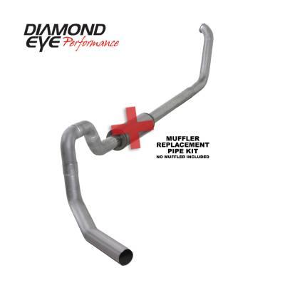 EXHAUST - EXHAUST KITS - Diamond Eye Performance - Diamond Eye Performance 1999.5-2003.5 FORD 7.3L POWERSTROKE F550 ROLLOVER-4in. ALUMINIZED-PERFORMANCE DI K4330A-RP