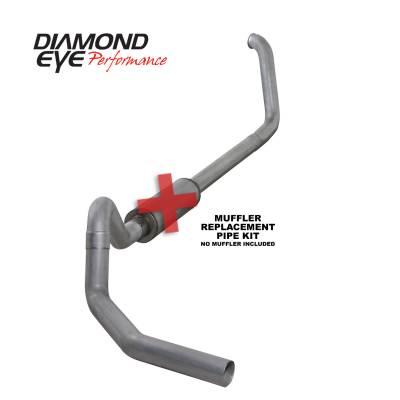 EXHAUST - EXHAUST KITS - Diamond Eye Performance - Diamond Eye Performance 1999.5-2003.5 FORD 7.3L POWERSTROKE F450-4in. ALUMINIZED-PERFORMANCE DIESEL EXHA K4328A-RP