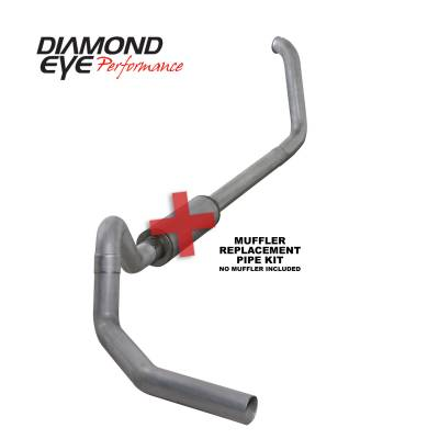 EXHAUST - EXHAUST KITS - Diamond Eye Performance - Diamond Eye Performance 1999.5-2003.5 FORD 7.3L POWERSTROKE F250/F350 CAB/CHASSIS-4in. ALUMINIZED-PERFOR K4326A-RP