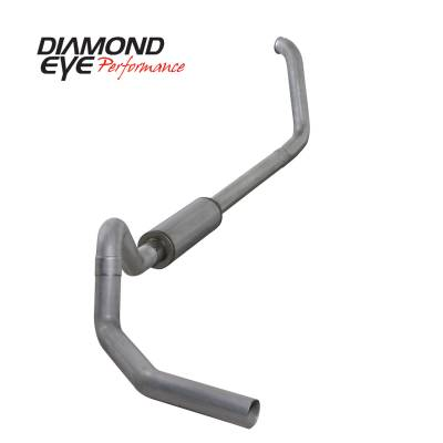 EXHAUST - EXHAUST KITS - Diamond Eye Performance - Diamond Eye Performance 1999.5-2003.5 FORD 7.3L POWERSTROKE F250/F350 CAB/CHASSIS-4in. ALUMINIZED-PERFOR K4326A