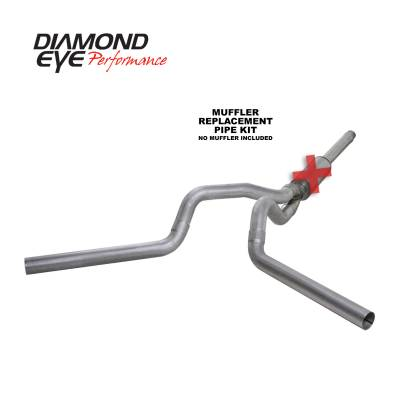 EXHAUST - EXHAUST KITS - Diamond Eye Performance - Diamond Eye Performance 1994-1997.5 FORD 7.3L POWERSTROKE F250/F350 (ALL CAB AND BED LENGTHS) 4in. ALUMI K4312A-RP