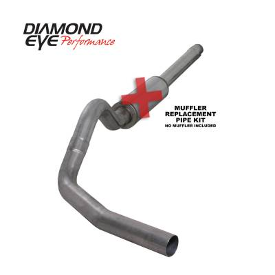 EXHAUST - EXHAUST KITS - Diamond Eye Performance - Diamond Eye Performance 1994-1997.5 FORD 7.3L POWERSTROKE F250/F350 (ALL CAB AND BED LENGTHS) 4in. 409 S K4310S-RP