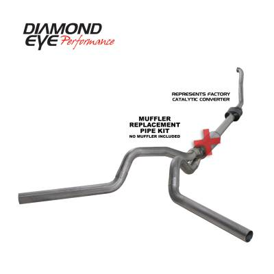PERFORMANCE - EXHAUST - Diamond Eye Performance - Diamond Eye Performance 1994-1997.5 FORD 7.3L POWERSTROKE F250/F350 (ALL CAB AND BED LENGTHS) 4in. 409 S K4308S-RP