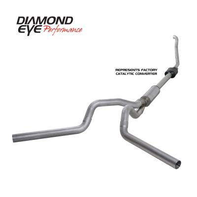EXHAUST - EXHAUST KITS - Diamond Eye Performance - Diamond Eye Performance 1994-1997.5 FORD 7.3L POWERSTROKE F250/F350 (ALL CAB AND BED LENGTHS) 4in. ALUMI K4308A