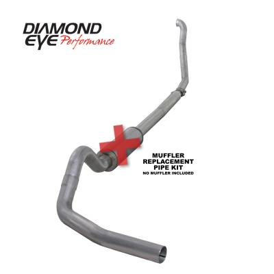 EXHAUST - EXHAUST KITS - Diamond Eye Performance - Diamond Eye Performance 1994-1997.5 FORD 7.3L POWERSTROKE F250/F350 (ALL CAB AND BED LENGTHS) 4in. ALUMI K4307A-RP