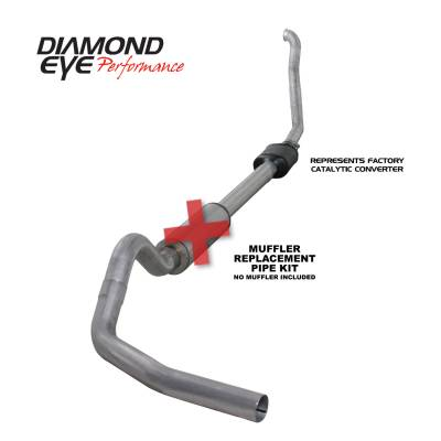 EXHAUST - EXHAUST KITS - Diamond Eye Performance - Diamond Eye Performance 1994-1997.5 FORD 7.3L POWERSTROKE F250/F350 (ALL CAB AND BED LENGTHS) 4in. ALUMI K4306A-RP
