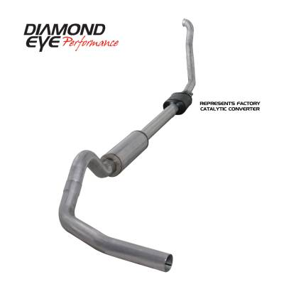EXHAUST - EXHAUST KITS - Diamond Eye Performance - Diamond Eye Performance 1994-1997.5 FORD 7.3L POWERSTROKE F250/F350 (ALL CAB AND BED LENGTHS) 4in. ALUMI K4306A