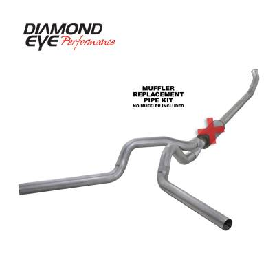 EXHAUST - EXHAUST KITS - Diamond Eye Performance - Diamond Eye Performance 2004.5-2007.5 DODGE 5.9L CUMMINS 2500/3500 (ALL CAB AND BED LENGTHS)-4in. ALUMIN K4237A-RP