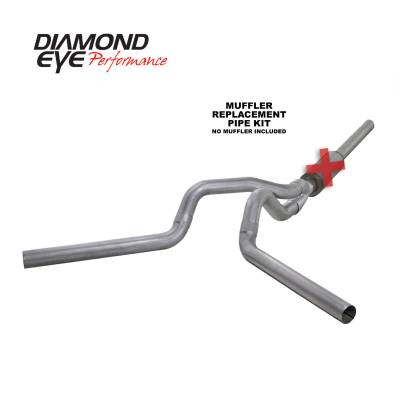EXHAUST - EXHAUST KITS - Diamond Eye Performance - Diamond Eye Performance 2004.5-2007.5 DODGE 5.9L CUMMINS 2500/3500 (ALL CAB AND BED LENGTHS)-4in. ALUMIN K4236A-RP