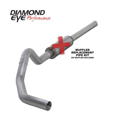 EXHAUST - EXHAUST KITS - Diamond Eye Performance - Diamond Eye Performance 2004.5-2007.5 DODGE 5.9L CUMMINS 2500/3500 (ALL CAB AND BED LENGTHS)-4in. ALUMIN K4234A-RP