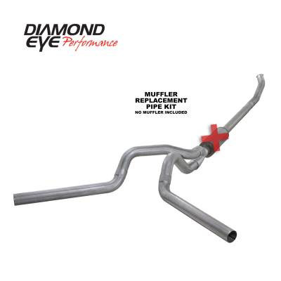 EXHAUST - EXHAUST KITS - Diamond Eye Performance - Diamond Eye Performance 2004.5-2007.5 DODGE 5.9L CUMMINS 2500/3500 (ALL CAB AND BED LENGTHS)-4in. ALUMIN K4233A-RP