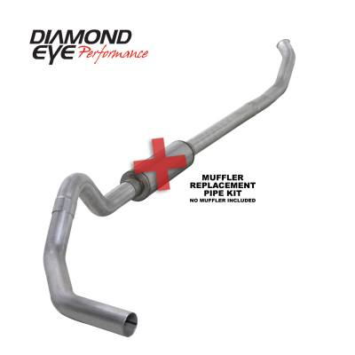 EXHAUST - EXHAUST KITS - Diamond Eye Performance - Diamond Eye Performance 2003-2004.5 DODGE 5.9L CUMMINS 2500/3500 (ALL CAB AND BED LENGTHS)-4in. ALUMINIZ K4218A-RP