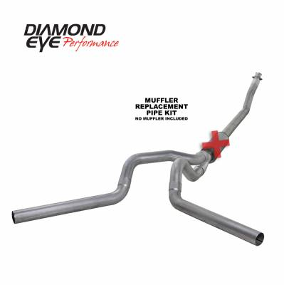 EXHAUST - EXHAUST KITS - Diamond Eye Performance - Diamond Eye Performance 1994-2002 DODGE 5.9L CUMMINS 2500/3500 (ALL CAB AND BED LENGTHS)-4in. ALUMINIZED K4214A-RP
