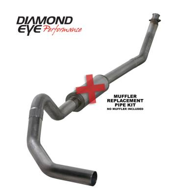 EXHAUST - EXHAUST KITS - Diamond Eye Performance - Diamond Eye Performance 1994-2002 DODGE 5.9L CUMMINS 2500/3500 (ALL CAB AND BED LENGTHS)-4in. 409 STAINL K4212S-RP