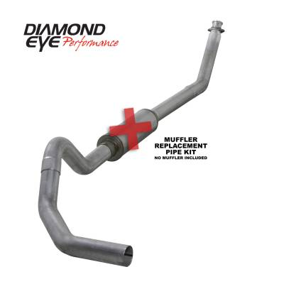 EXHAUST - EXHAUST KITS - Diamond Eye Performance - Diamond Eye Performance 1994-2002 DODGE 5.9L CUMMINS 2500/3500 (ALL CAB AND BED LENGTHS)-4in. ALUMINIZED K4212A-RP