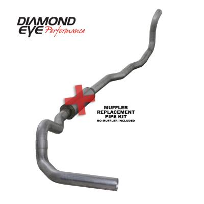 EXHAUST - EXHAUST KITS - Diamond Eye Performance - Diamond Eye Performance 1989-1993 DODGE 5.9L CUMMINS 2500/3500 (ALL CAB AND BED LENGTHS)-4in. ALUMINIZED K4211A-RP