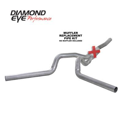 PERFORMANCE - EXHAUST - Diamond Eye Performance - Diamond Eye Performance 2006-2007.5 CHEVY/GMC 6.6L DURAMAX 2500/3500 (ALL CAB AND BED LENGTHS) 4in. ALUM K4124A-RP