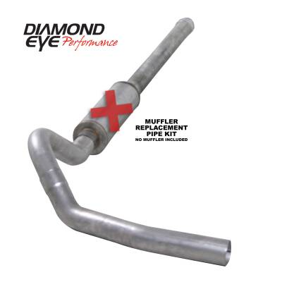 PERFORMANCE - EXHAUST - Diamond Eye Performance - Diamond Eye Performance 2006-2007.5 CHEVY/GMC 6.6L DURAMAX 2500/3500 (ALL CAB AND BED LENGTHS) 4in. ALUM K4122A-RP