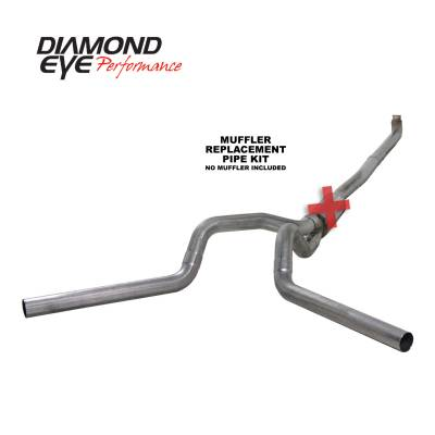 PERFORMANCE - EXHAUST - Diamond Eye Performance - Diamond Eye Performance 2001-2007.5 CHEVY/GMC 6.6L DURAMAX 2500/3500 (ALL CAB AND BED LENGTHS) 4in. 409 K4116S-RP