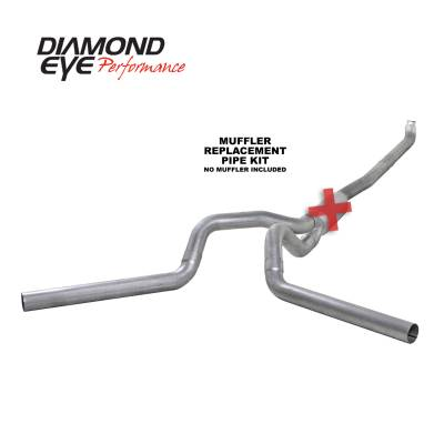 PERFORMANCE - EXHAUST - Diamond Eye Performance - Diamond Eye Performance 2001-2007.5 CHEVY/GMC 6.6L DURAMAX 2500/3500 (ALL CAB AND BED LENGTHS) 4in. ALUM K4116A-RP