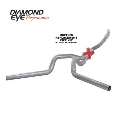 PERFORMANCE - EXHAUST - Diamond Eye Performance - Diamond Eye Performance 2001-2007.5 CHEVY/GMC 6.6L DURAMAX 2500/3500 (ALL CAB AND BED LENGTHS) 4in. ALUM K4115A-RP