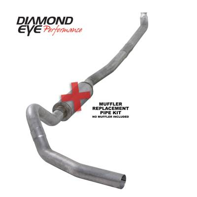 EXHAUST - EXHAUST KITS - Diamond Eye Performance - Diamond Eye Performance 2001-2007.5 CHEVY/GMC 6.6L DURAMAX 2500/3500 (ALL CAB AND BED LENGTHS)-4in. ALUM K4114A-RP