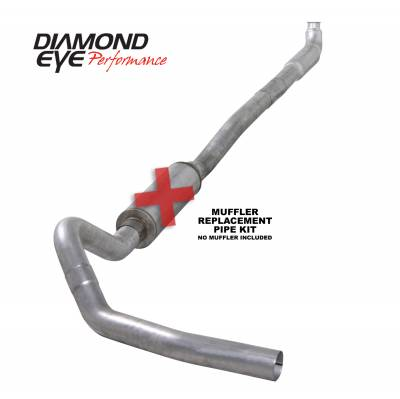 EXHAUST - EXHAUST KITS - Diamond Eye Performance - Diamond Eye Performance 2001-2007.5 CHEVY/GMC 6.6L DURAMAX 2500/3500 (ALL CAB AND BED LENGTHS)-4in. ALUM K4113A-RP