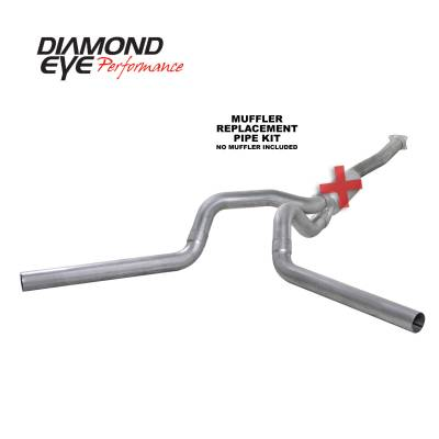 PERFORMANCE - EXHAUST - Diamond Eye Performance - Diamond Eye Performance 2001-2005 CHEVY/GMC 6.6L DURAMAX 2500/3500 (ALL CAB AND BED LENGTHS)-4in. ALUMIN K4112A-RP