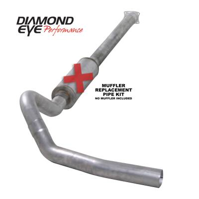 PERFORMANCE - EXHAUST - Diamond Eye Performance - Diamond Eye Performance 2001-2005 CHEVY/GMC 6.6L DURAMAX 2500/3500 (ALL CAB AND BED LENGHTS)-4in. ALUMIN K4110A-RP