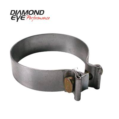 EXHAUST - EXHAUST CLAMPS - Diamond Eye Performance - Diamond Eye Performance PERFORMANCE DIESEL EXHAUST PART-3.5in. 409 STAINLESS STEEL TORCA BAND CLAMP BC350S409